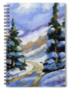 Snow Laden Pines Spiral Notebook