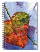 Snow Leaf Spiral Notebook
