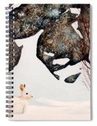 Snow Ledges Rabbit Spiral Notebook