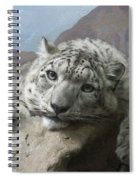 Snow Leopard Relaxing Spiral Notebook