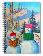 Snow Mom And Son Spiral Notebook