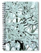 Snow On Branches Spiral Notebook
