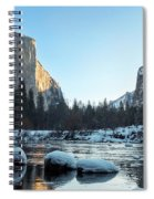 Snow On Large Rocks With El Capitan In The Background Spiral Notebook