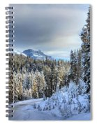Snow On The Bow Valley Parkway Spiral Notebook