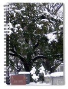 Snow On The Graves Spiral Notebook