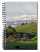 Snow On The Great Western Tiers, Tasmania Spiral Notebook