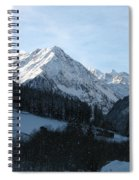 Snow On The Mountains Spiral Notebook