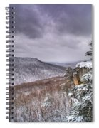 Snow On The Plateau Spiral Notebook