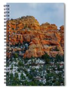 Snow On The Red Rocks Spiral Notebook