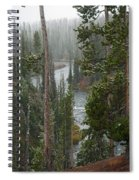 Snow On The Yellowstone River Spiral Notebook
