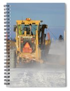 Snow Plowing Spiral Notebook