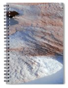 Snow Sand And Rocks Spiral Notebook