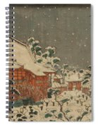 Snow Scene At Sens Ji Temple At Kinry Zan In The Eastern Capital Spiral Notebook
