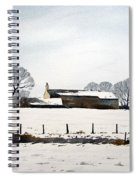 Snow Scene Barkisland Spiral Notebook