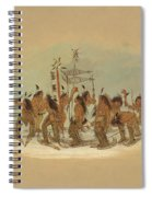 Snow Shoe Dance. Ojibbeway Spiral Notebook