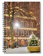 Snow Storm In Faneuil Hall Quincy Market Boston Ma Spiral Notebook