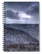 Snow Storm In The Mountains Spiral Notebook