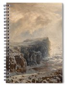 Snow Storm On A Northern Coast Spiral Notebook