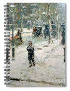 Snow Storm On Fifth Avenue Spiral Notebook