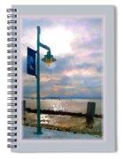 Snow Waterfront Park Walk Spiral Notebook