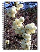 Snowberries Spiral Notebook