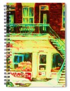 Snowcovered Steps Spiral Notebook