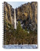 Snowfall Bridalveil Falls Spiral Notebook
