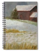Snowfall In The Valley Spiral Notebook
