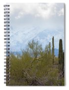 Snowfall On The Mountains Spiral Notebook
