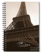 Snowing On The Eiffel Tower Spiral Notebook