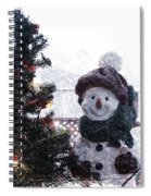 Snowman And Tree Pa Spiral Notebook