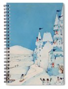 Snowman Castle Spiral Notebook