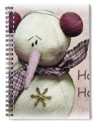 Snowman Greeting Card Spiral Notebook