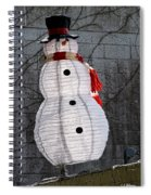 Snowman On The Roof Spiral Notebook