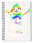Snowman With Rainbow 1 Spiral Notebook