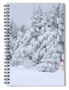 Snowmen In France Spiral Notebook