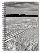 Snowmobile Tracks On China Lake Spiral Notebook