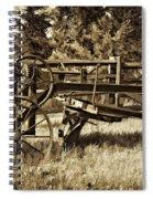 Snowplow Sepia Spiral Notebook