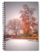 Snowstorm In The Japanese Gardens Spiral Notebook