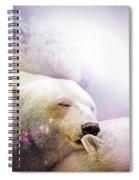 Snowstorm Kisses Spiral Notebook