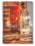 Snowstorm On Tremont Street Boston Ma Park Street Church Spiral Notebook