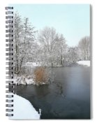 Chilled Scenery Around Frozen Canals Spiral Notebook