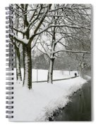Walking On A Snowy Area Spiral Notebook