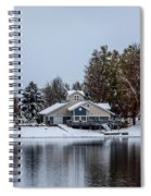 Snowy Boat House Spiral Notebook
