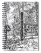 Snowy Cattle Gate Spiral Notebook