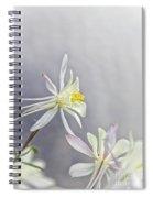 Snowy Columbine Spiral Notebook