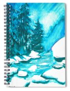Snowy Creek Banks Spiral Notebook