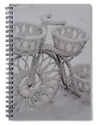 Snowy Cycle Wheel Spiral Notebook