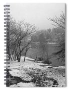 Snowy Day On Redd's Pond And Old Burial Hill Spiral Notebook