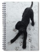Snowy Dog Spiral Notebook